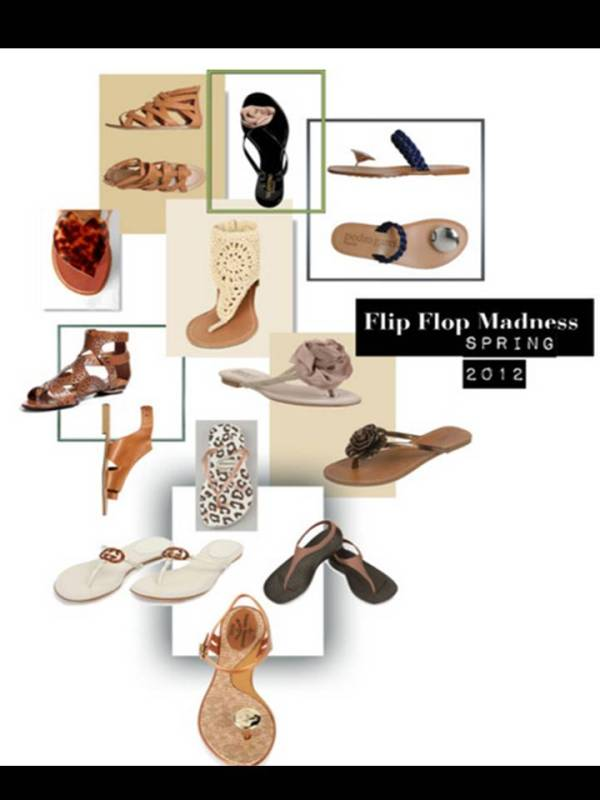 Spring 2012 Flip Flop Styles