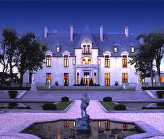 The Grand Oheka Castle at night in Hungtinton Long Island